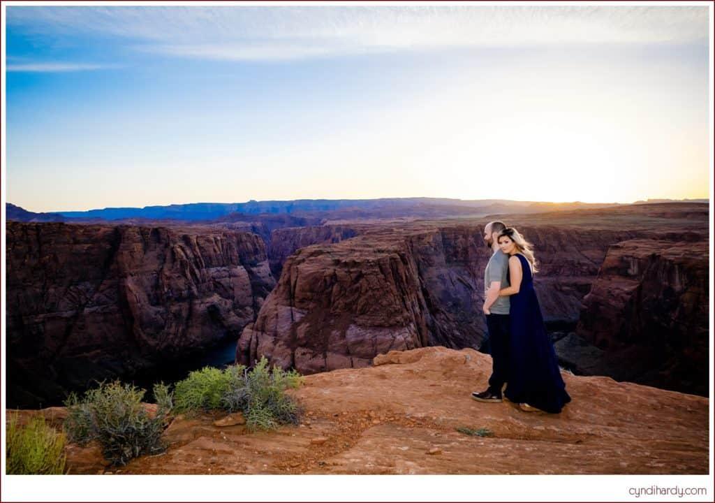 engagement, cyndi hardy photography, photography, photographer, photos, page, arizona, horseshoe bend, edgy, fashion