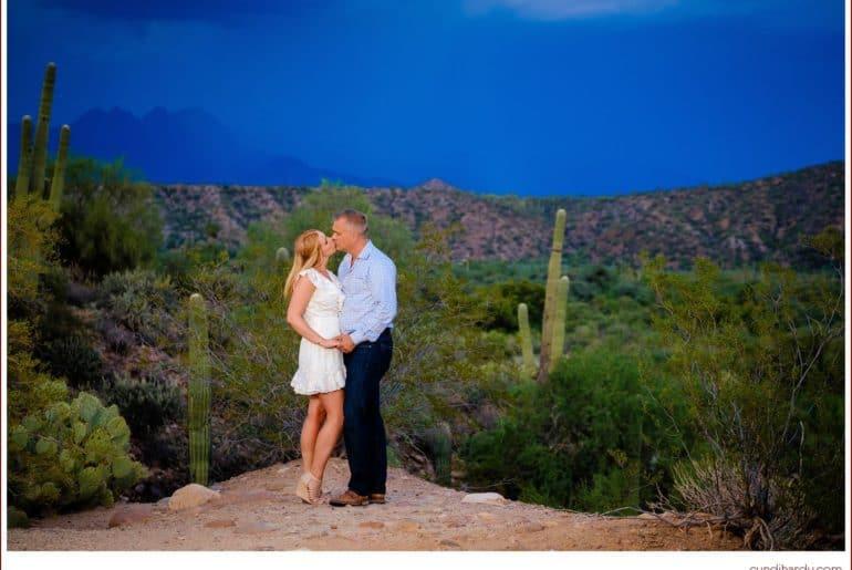 engagement, cyndi hardy photography, photography, photographer, photos, fountain hills, arizona, saguaro, lake, desert, rain