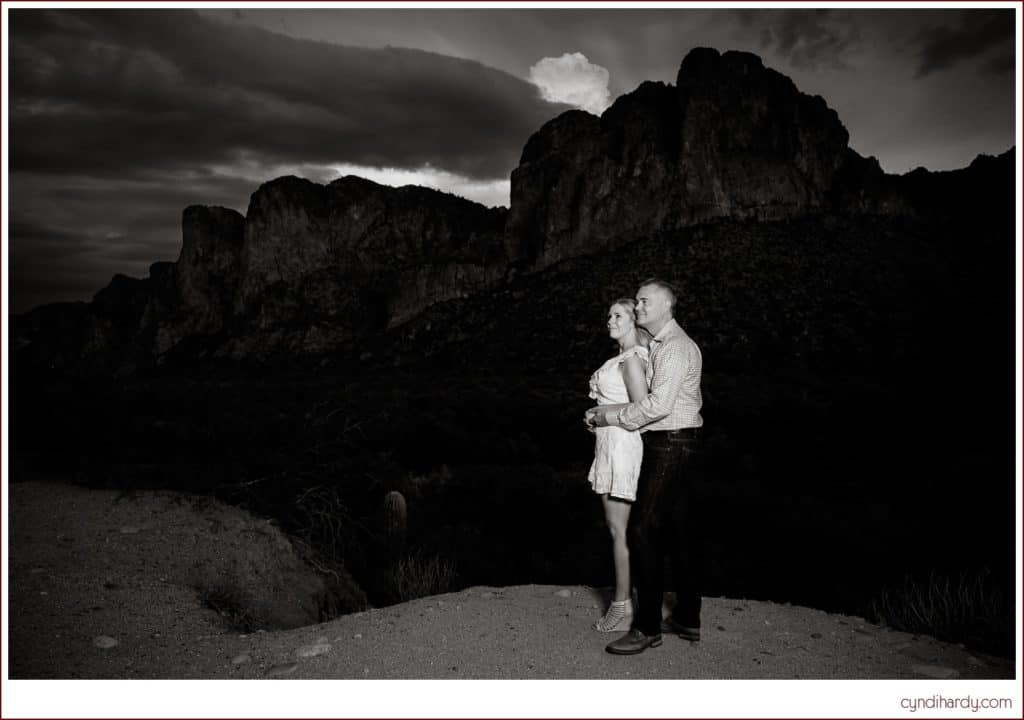 engagement, cyndi hardy photography, photography, photographer, photos, fountain hills, arizona, saguaro, lake, desert, rain